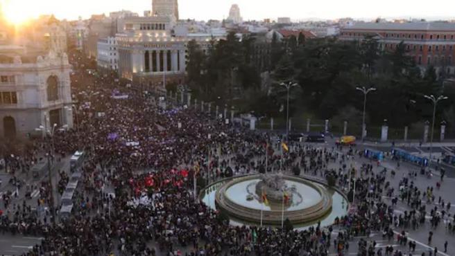 Manifestación del 8M de 2020 en Madrid