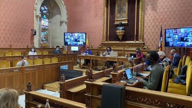 Pleno del Consell de Mallorca de este jueves.
