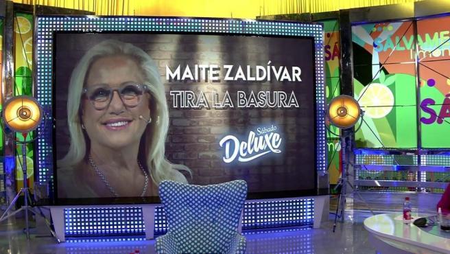 Maite Zaldívar, en 'Sábado Deluxe'.