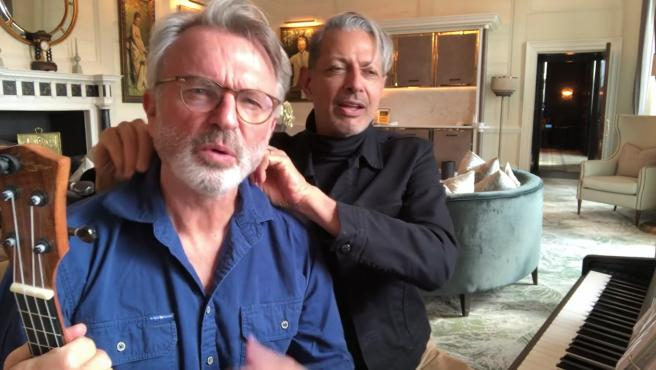 Sam Neill y Jeff Goldblum