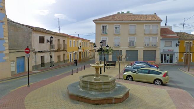 Imagen de Alhama de Murcia. Al fondo, a la izquierda, el cuartel de la Guardia Civil.