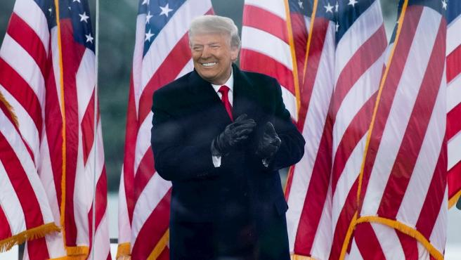 El expresidente estadounidense, Donald J. Trump, durante el mitin ofrecido de la Casa Blanca en Washington, el pasado 6 de enero.