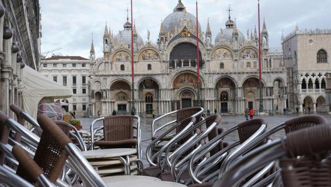Restaurante cerrado en Venecia.