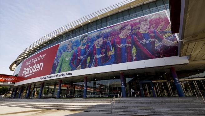 Imagen del exterior del Camp Nou, estadio del FC Barcelona.