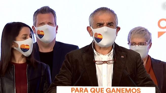 Carlos Carrizosa interviene tras la debacle electoral de Ciudadanos.