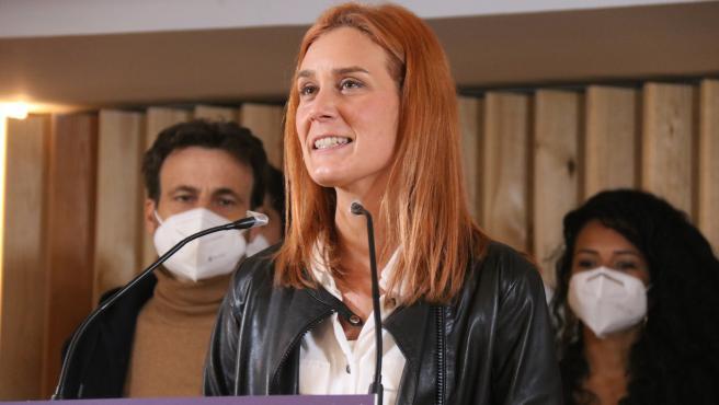 La candidata de En Comú Podem a la presidencia de la Generalitat de Cataluña, Jessica Albiach.