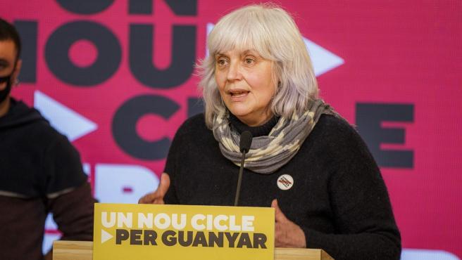 La candidata de la CUP a las elecciones catalanas, Dolors Sabater, valora los resultados de los comicios.