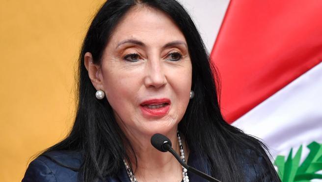 La ministra de Relaciones Exteriores de Perú, Elizabeth Astete.