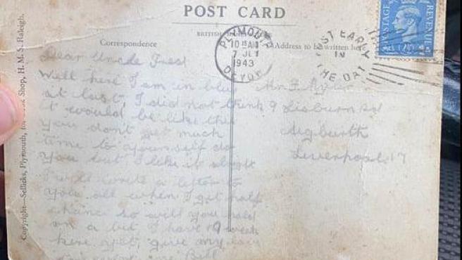 Bill Cardwell escribió la carta cuando estaba entrenando en la Marina.