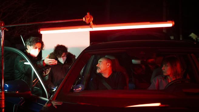 Imagen del rodaje del episodio 'La Broma'.
