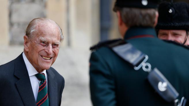Archivo - Ingresado por 'precaución' el Duque de Edimburgo, marido de Isabel II