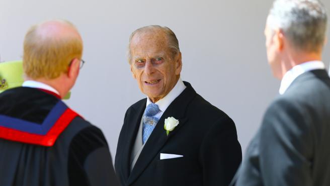 El duque Felipe de Edimburgo, en la boda del príncipe Harry y Meghan Markle.