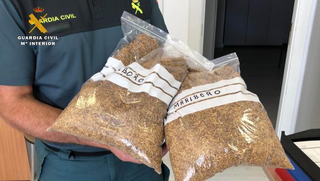 Incautados en Calahorra dos kilos de picadura de tabaco procedente del contrabando