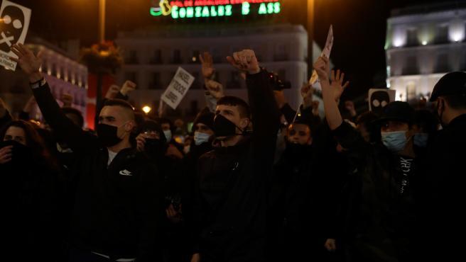 Manifestación en Madrid contra la detención de Pablo Hasel