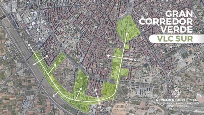 El proyecto discurrirá desde el centro de la ciudad al nuevo cauce del Turia.