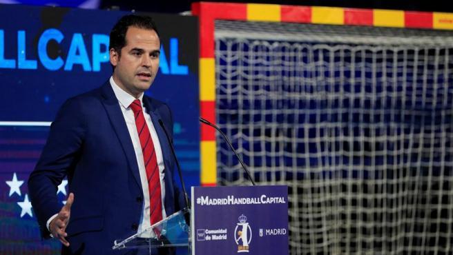 Aguado, durante el sorteo de la fase final de la Copa, celebrado en el Wizink Center de Madrid.