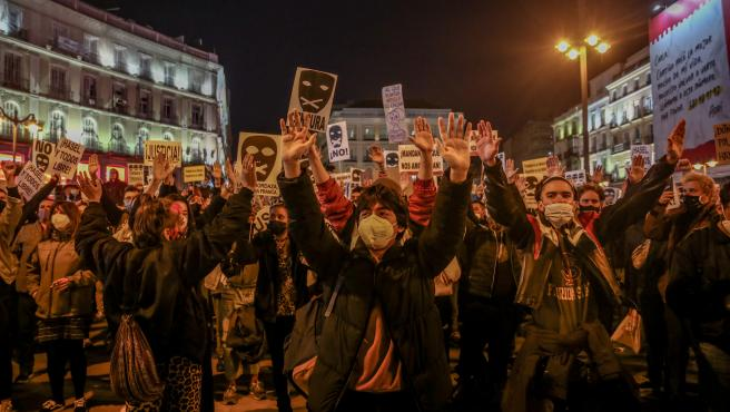 Segundo día de protestas contra el encarcelamiento de Pablo Hasel