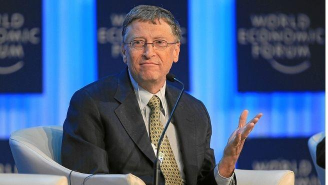 Bill Gates en un acto del Foro Económico Mundial.