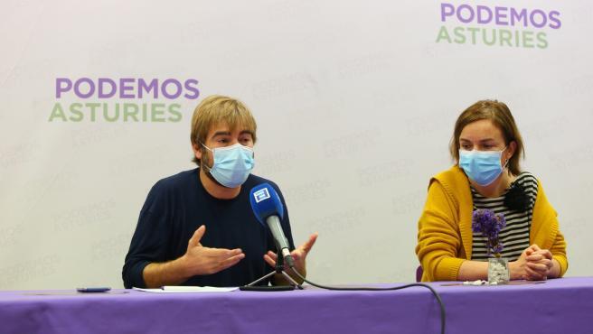 Daniel Ripa y Covadonga Tomé en rueda de prensa.