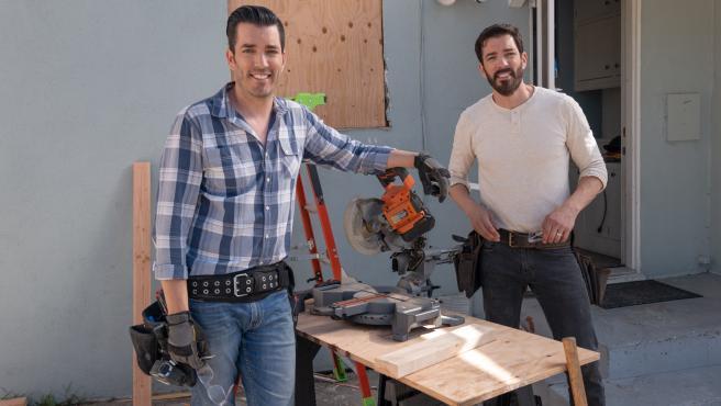 Drew and Jonathan Scott en 'Los gemelos reforman dos veces'.