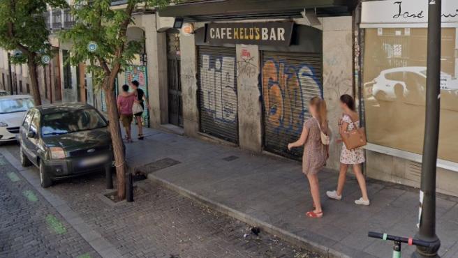 El bar Melo's, en Lavapies, en una imagen de Google Maps.