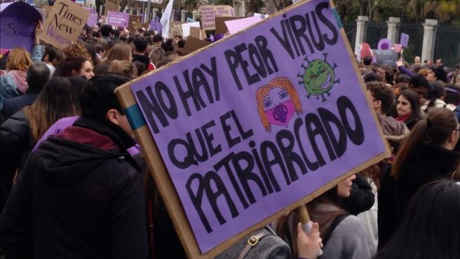 Imagen de la manifestación del 8M en 2020 en Madrid.