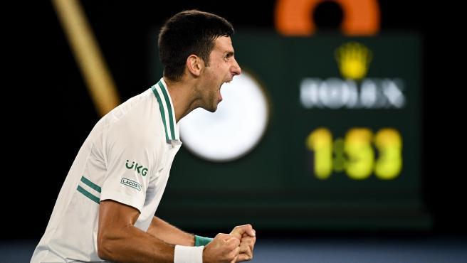 Novak Djokovic, en la final del Open de Australia