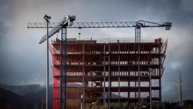 Imagen de archivo de la construcción de una vivienda.