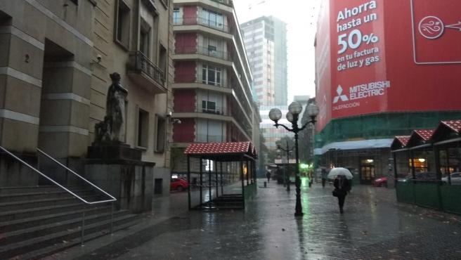 Acumulados 51,5 l/m2 de precipitaciones en 24 horas en Valdegovía (Álava)