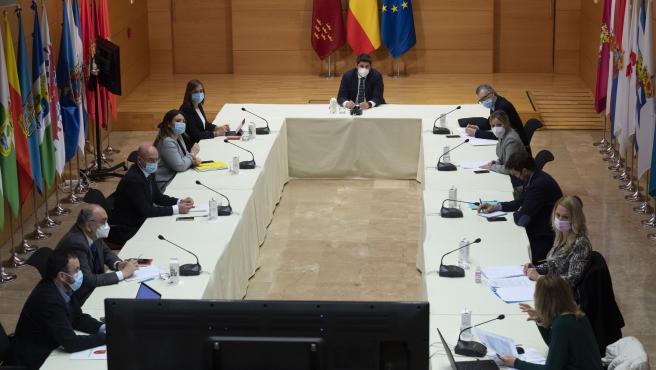 Imagen de la reunión del Comité de Seguimiento Covid-19