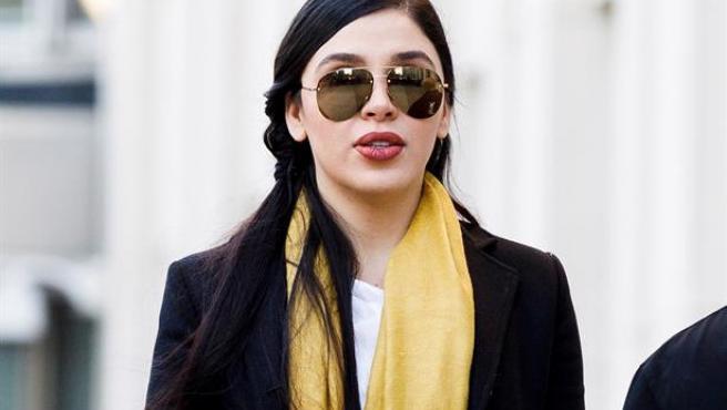 Emma Coronel Aispuro, esposa del narcotraficante Joaquín 'El Chapo' Guzmán, durante el juicio a su marido en el Tribunal Federal de EE UU, en Brooklyn, Nueva York, el 4 de febrero de 2019.