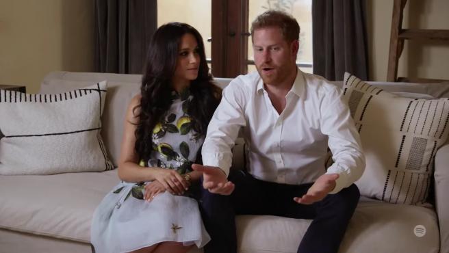Meghan Markle y el príncipe Harry, en 2021.