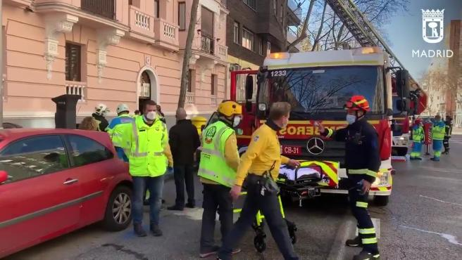 Muere un anciano de 93 años en el incendio de su casa en Madrid