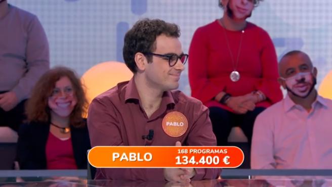 Pablo, en 'Pasapalabra'.
