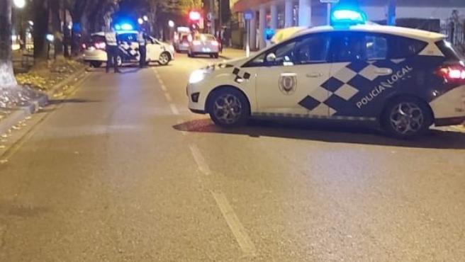 Control de la Policía Local de Lugo para velar por el cumplimiento de las medidas contra la Covid-19.