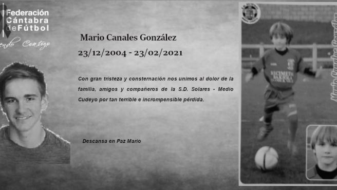 Fallecimiento de Mario Canales