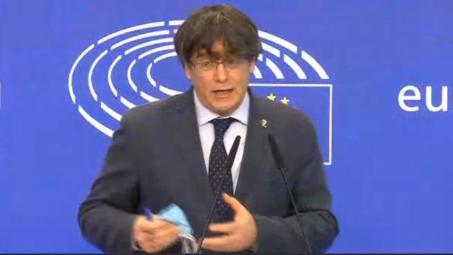 """Puigdemont pide a la Eurocámara no aceptar la """"presión española"""""""