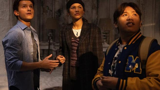 Tom Holland, Zendaya y Jacob Batalon en 'Spider-Man 3'