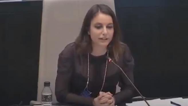 Andrea Levy, en el pleno.