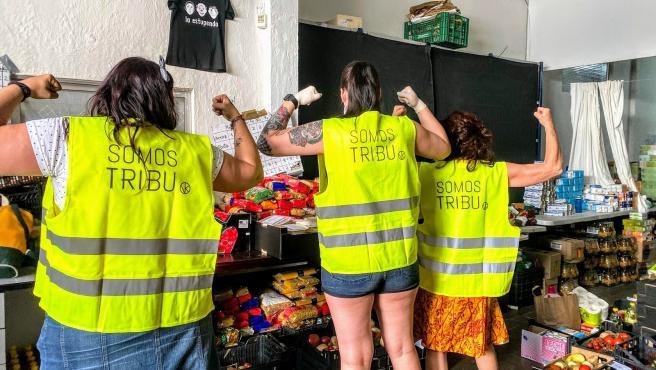 Voluntarias de Somos Tribu Vallekas.
