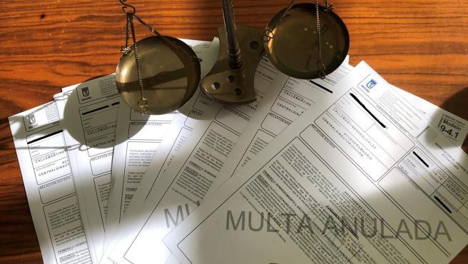 Imagen de las multas de Madrid Central anuladas.