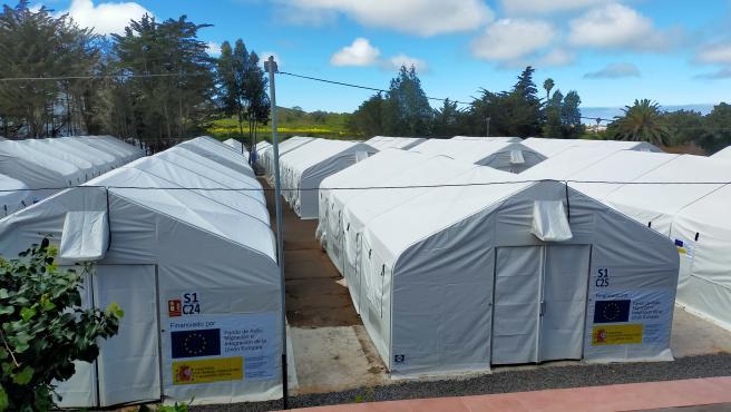Campamento de migrantes de Las Raíces