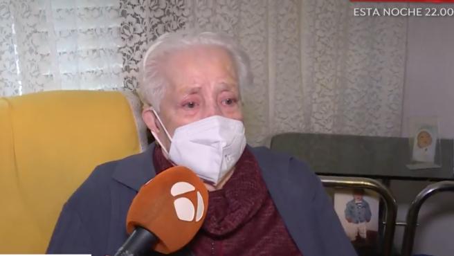 Captura de la entrevista en 'EP' a Rosario, la anciana de 97 años que fue desahuciada de su casa por error.