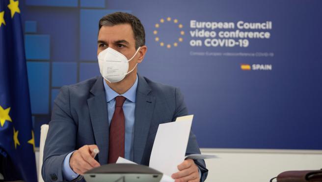 El presidente del Gobierno, durante su participación en el Consejo Europeo que ha concluido este viernes.