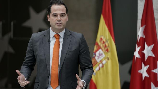 El vicepresidente de la Comunidad, Ignacio Aguado, este viernes durante un acto en la Real Casa de Postas.