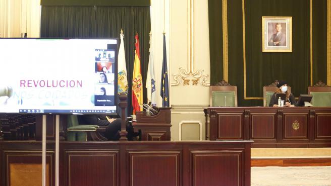 La Diputación de Pontevedra retira el busto del rey emérito de su sede para colocar una obra de temática femenina