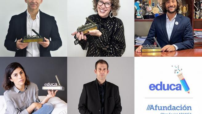 Ganadores de los IV Premios Educa Abanca