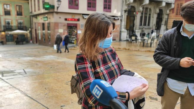 La portavoz de Somos en el Ayuntamiento de Oviedo, Ana Taboada.