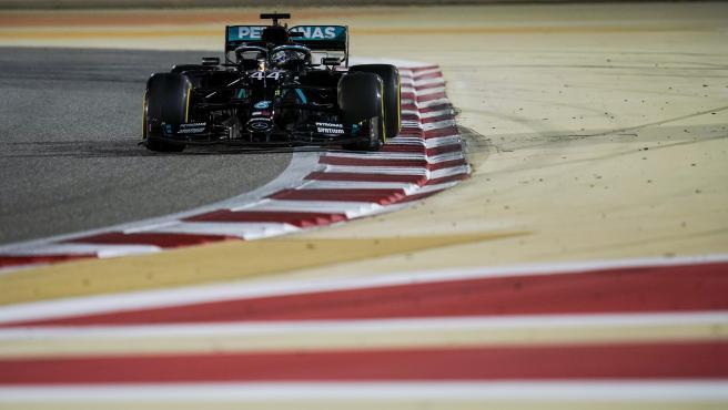 Lewis Hamilton, en el GP de Bahréin de 2020