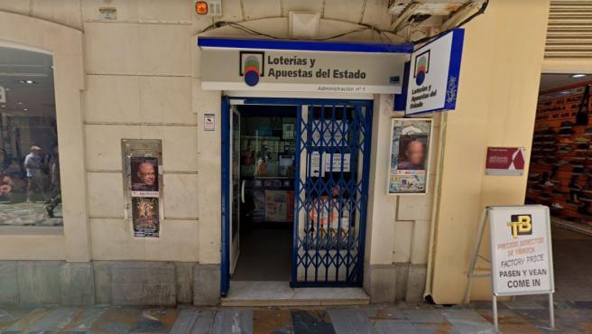 Administración de Loterías ubicada en Cartagena, Murcia.